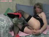 Dirty ladyboy is lonely!